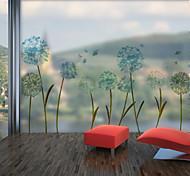 abordables -fantaisie fleurs motif mat fenêtre film s'accrochent vinyle isolation thermique protection de la vie privée décor à la maison pour fenêtre armoire porte autocollant / fenêtre autocollant 60x58 cm