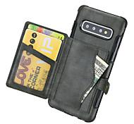 economico -telefono Custodia Per Samsung Galaxy Per retro Custodia in pelle S20 Plus S20 S10 Note 10 Note 10 + Porta-carte di credito Mattonella pelle sintetica