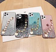 economico -telefono Custodia Per Apple Per retro Silicone Custodia in silicone iPhone 11 Pro Max SE 2020 X XR XS Max 8 7 6 Traslucido Glitterato Tinta unita Glitterato TPU Silicone