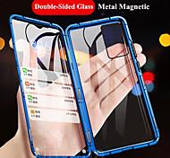 economico -telefono Custodia Per Samsung Galaxy Integrale Custodia flip S20 Plus S20 Ultra S20 Resistente agli urti Con chiusura magnetica A calamita Transparente Tinta unita Vetro temperato Metallo