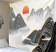 abordables -Peinture à l'encre de Chine style tapisserie murale art décor couverture rideau suspendu maison chambre salon décoration abstrait montagne nuage soleil