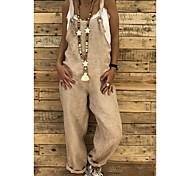 abordables -Combinaison-pantalon Femme Couleur Pleine Sans Manches Simple Noir Bleu Vin Kaki Bleu Roi Gris Clair S M L XL XXL 3XL 4XL 5XL