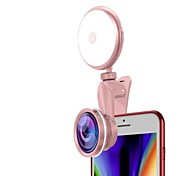 abordables -Rond Selfie Ring Light LED Smart Light Intensité Réglable avec Câble USB Flash pour Selfie Bouton alimenté par batterie 2 ensembles 1 set