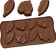 abordables -moule en silicone 8 feuilles différentes pudding au chocolat moule à glace outils de cuisson bricolage feuille d'érable 3d