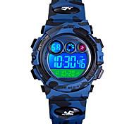 abordables -SKMEI enfants Montre de Sport Digitale Numérique Quartz Style moderne Sportif camouflage Alarme Calendrier Chronographe / Un ans / Silikon