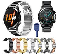 abordables -Bracelet de montre connectée pour Huawei 1 pcs Bracelet Sport Acier Inoxydable Remplacement Sangle de Poignet pour Montre Huawei GT Watch 2 Pro Honneur à la magie Huawei Watch GT Active Montre Huawei