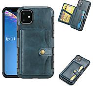 economico -telefono Custodia Per Apple Per retro Custodia in pelle iPhone 12 Pro Max 11 SE 2020 X XR XS Max 8 7 Porta-carte di credito Mattonella pelle sintetica