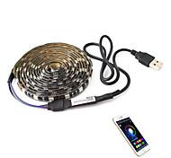 economico -1m Strisce luminose RGB Luci intelligenti 30 LED SMD5050 6mm 1 set Colori primari Halloween Natale Impermeabile Auto-adesivo Sfondo TV 5 V Alimentazione USB