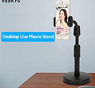 abordables -VESKYS Accroche Support Téléphone Bureau Téléphone Portable Support Ajustable Support de bureau pour téléphone Ajustable Rotation 360 ° Métal Accessoire de Téléphone iPhone 12 11 Pro Xs Xs Max Xr X 8