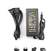 economico -ac 100-240v a dc 12v 6a commutatore eu / au / uk / us plug 72w 5.5 * 2.5mm adattatore di alimentazione per luci flessibili a led