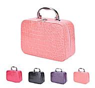 economico -borsa da viaggio portatile in pelle di coccodrillo con struttura in pelle di cocco con manico