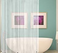 abordables -rideau de douche imperméable antibactérien peva résistant à la moisissure rideau de salle de bains de luxe transparent blanc avec rideau de salle de bains avec crochet 180cmx180cm