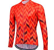abordables -Fastcute Homme Femme Manches Longues Maillot Velo Cyclisme Hiver Coolmax® Peau-Rouge Violet Jaune Grandes Tailles Cyclisme Shirt Maillot Hauts / Top VTT Vélo tout terrain Vélo Route Respirable