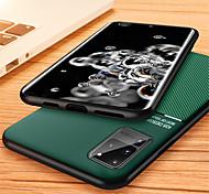 economico -telefono Custodia Per Samsung Galaxy Per retro Custodia in pelle S20 Plus S20 Ultra S20 Decorazioni in rilievo Tinta unica pelle sintetica TPU