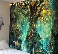 abordables -tapisserie murale art décor couverture rideau pique-nique nappe suspendu maison chambre salon dortoir décoration fantaisie arbre forêt paysage