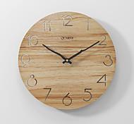 economico -moderno e minimalista orologio da parete moda silenzioso orologio in legno color kaki 30x30 cm