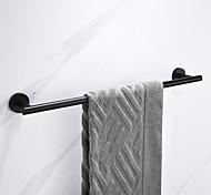 abordables -Porte-serviettes multifonction nouveau design en acier inoxydable à tige unique fixé au mur pour salle de bain perforable noir mat 1pc
