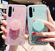 economico -telefono Custodia Per Samsung Galaxy Per retro S20 Plus S20 Ultra S20 Resistente agli urti Con supporto Glitterato Cielo Glitterato Stelle TPU