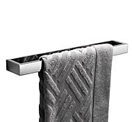 abordables -porte-serviettes nouveau design auto-adhésif salle de bain tige unique en acier inoxydable et un matériau abs de qualité fixé au mur argenté 1pc