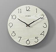 economico -moderno e minimalista orologio da parete moda silenzioso orologio in legno beige 30x30cm