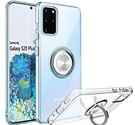 abordables -cas de téléphone pour samsung galaxy s20 s20plus s20 ultra clair ultra mince étui de téléphone souple avec support de bague de rotation 360 béquille magnétique antichoc couverture anti-rayures note