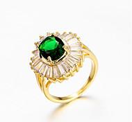 economico -Anello Classico Oro Placcato in oro Diamanti d'imitazione Fiore decorativo Alla moda 1 pc 7 8 / Per donna