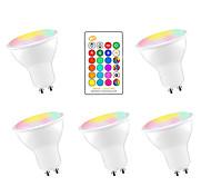 abordables -5 pièces 5 W Ampoules LED Intelligentes 350 lm GU10 E26 / E27 3 Perles LED SMD 5050 Elégant Intensité Réglable Soirée RGBW 85-265 V