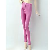 abordables -Pantalon de poupée Pantalons Pour Barbie Rose Satin Elastique Pantalon Pour Fille de Jouets DIY  / Enfants