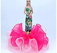 economico -Accessori della bambola Vestiti per le bambole Abito da bambola Abito da matrimonio Party / serata Vestiti Matrimonio Da principessa Ricamato Di pizzo Tulle Pizzo Organza Per la bambola da 11,5