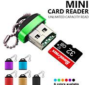 abordables -Mini lecteur de carte usb 2.0 avec couvercle en plastique porte-clés haute vitesse micro sd tf carte mémoire pour pc ordinateur portable téléphone caméra