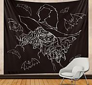 abordables -Halloween fête tapisserie murale art décor couverture rideau suspendu maison chambre salon décoration chauve-souris sorcière croquis
