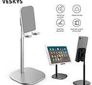 abordables -VESKYS Accroche Support Téléphone Lit Bureau iPad Tablette Support Ajustable Ajustable Silicone Alliage d'aluminium Accessoire de Téléphone iPhone 12 11 Pro Xs Xs Max Xr X 8 Samsung Glaxy S21 S20