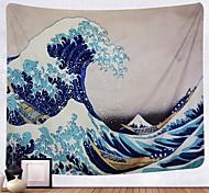 abordables -Kanagawa vague ukiyo-e tapisserie murale art décor couverture rideau suspendu maison chambre salon décoration peinture japonaise style