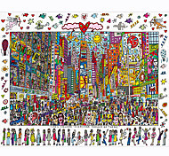 abordables -Puzzles en bois Jeux de Logique & Casse-tête Personnes Soulagement de stress et l'anxiété Vue de la ville Jouets de décompression En bois 1000 pcs Enfants Adultes Jouet Cadeau / 14 ans & Plus
