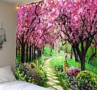 abordables -tapisserie murale art décor couverture rideau pique-nique nappe suspendu maison chambre salon dortoir décoration nature paysage jardin arbre fleur fleur voie