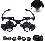 abordables -loupe 10x 15x 20x 25x oeil bijoux montre réparation loupe lunettes avec 2 lumières led microscope