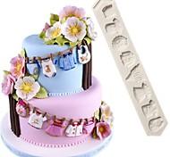 abordables -1 pcs bébé vêtements pantalon fondant gâteau moule en silicone bricolage