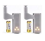 economico -2 pezzi 3 W 1200 lm 3 Perline LED Romantico Creativo Facile da installare Luci sottopensile Luci LED per mobili Bianco caldo Bianco 12 V Casa / ufficio Cameretta dei bambini Cucina