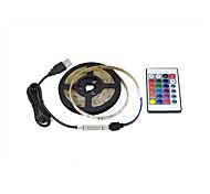 economico -1m Strisce luminose RGB Controlli remoti 30 LED 2835 SMD 5mm 1 telecomando da 24Keys 1 set Colori primari Halloween Natale Decorativo Auto-adesivo Sfondo TV Alimentazione USB