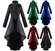 abordables -Docteur de la peste Rétro Punk et gothique Steampunk 17ème siècle robe de vacances Robe Redingote Trench-coat Robe de bal Femme Costume Noir / Vin / Bleu Vintage Cosplay Soirée Halloween Festival