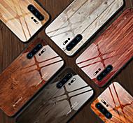economico -telefono Custodia Per Huawei Per retro Huawei P20 Pro Huawei P30 Lite Mate 30 Pro Resistente agli urti Simil-legno TPU Vetro temperato