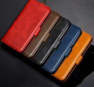 abordables -téléphone Coque Pour Apple Coque Intégrale Étui en cuir Etui folio iPhone 11 Pro Max SE 2020 X XR XS Max 8 7 6 Porte Carte Clapet Magnétique Lignes / Vagues faux cuir