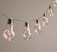 abordables -3,5 m Guirlandes Lumineuses 10 LED EL 1Set Support de montage 1 set Blanc Chaud Noël Nouvel An Solaire Alimentation Solaire