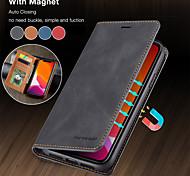 economico -telefono Custodia Per Apple Integrale Custodia in pelle Porta carte di credito iPhone 12 Pro Max 11 SE 2020 X XR XS Max 8 7 6 A portafoglio Porta-carte di credito Con supporto Tinta unita vera pelle