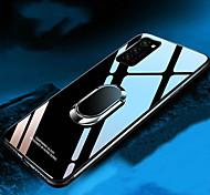 economico -telefono Custodia Per Samsung Galaxy Per retro S20 Plus S20 Ultra Galaxy Note 10 Resistente agli urti Con supporto Supporto ad anello Tinta unita TPU Vetro temperato