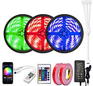 economico -ZDM® 3x5m Set luci Strisce luminose RGB 450 LED 5050 SMD 10mm 1 adattatore 12V 6A 1 telecomando da 24Keys 1x connettore da 1 a 4 cavi 1 set Colori primari Controllo APP Accorciabile Feste 110-240 V