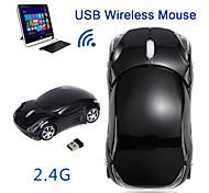 abordables -Fl01 souris de jeu sans fil 2.4 GHz 1600 dpi forme de voiture sans fil défilement optique led lumière respirante souris ergonomiques pour tablette ordinateur portable souris