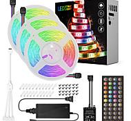 abordables -ZDM® 3x5M Bande lumineuse LED Ruban LED Ensemble de Luminaires 450 LED SMD5050 10mm 1 adaptateur 12V 6A 1x 1 à 4 connecteur de câble 1Set Support de montage 1 set RGB Noël Nouvel An Imperméable Soirée