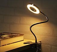 abordables -Lampe de Table / Lampe de Bureau / Lampe de lecture Ajustable / Intensité Réglable / Agrafe Moderne contemporain Alimenté par Port USB Pour Chambre à coucher / Bureau Noir