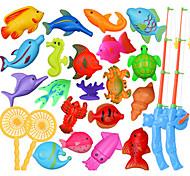 abordables -1 kit animaux 20pcs poisson de mer 2 canne à pêche bébé utiles jouet Toy Set développement